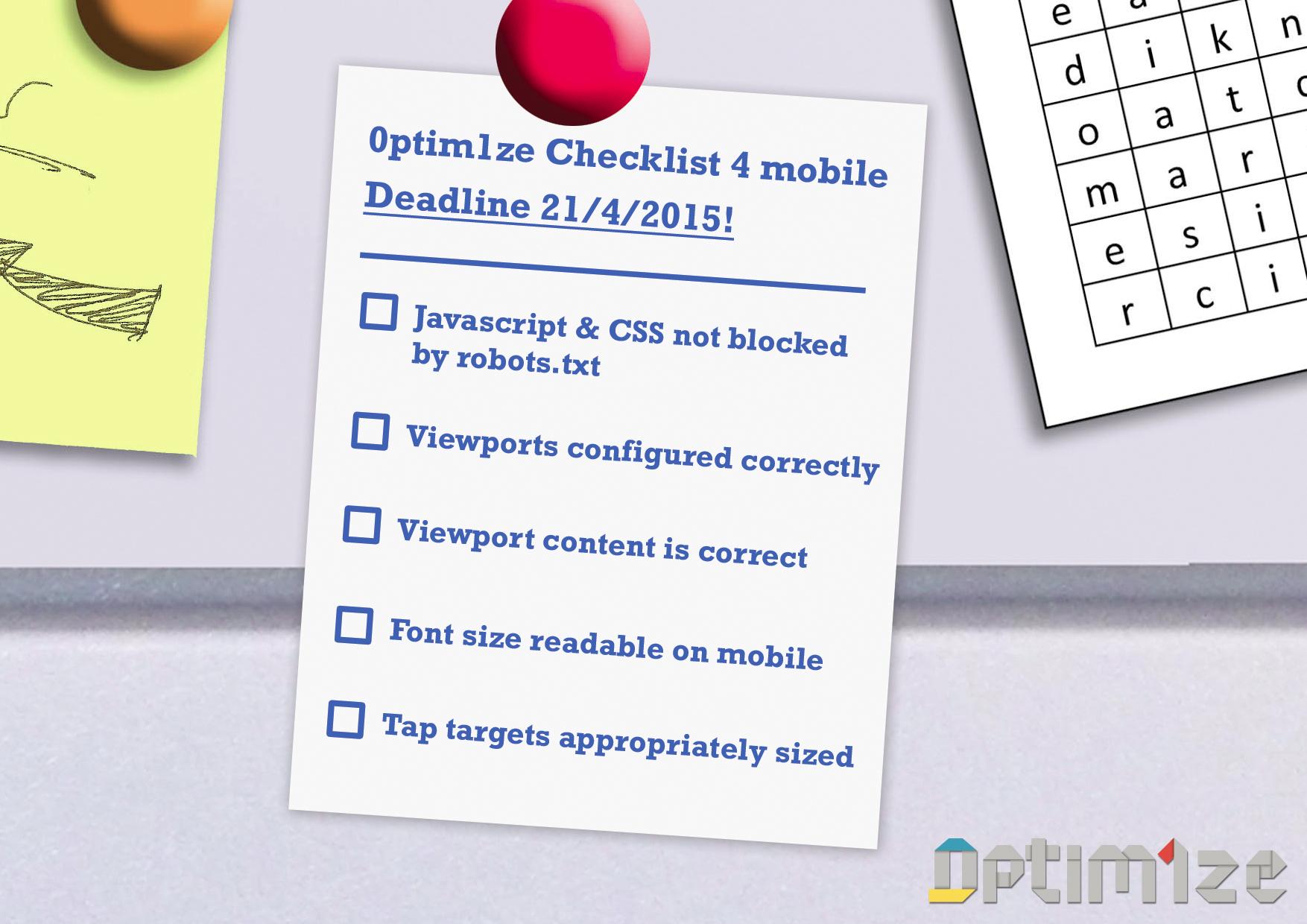 Google mobile update checklist